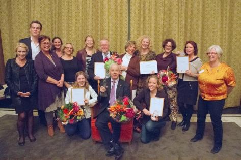 Foto Jos Versteegen Genomineerden en winnaar Leidse Vrijwilligersprijs 2014 Ton Lommers