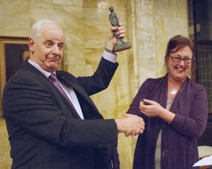 Foto Jos Versteegen Winnaar Leidse Vrijw.prijs 2014 Ton Lommers